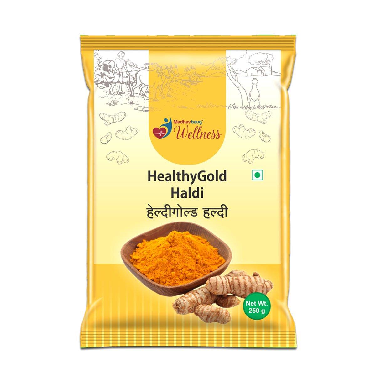 Madhavbaug Wellness Healthy Gold Haldi 250 Pouch