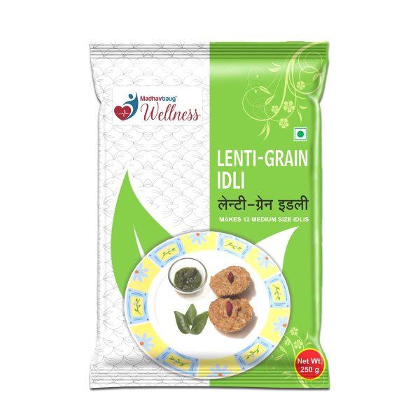 Madhavbaug Wellness LentiGrain Idli 250 Pouch