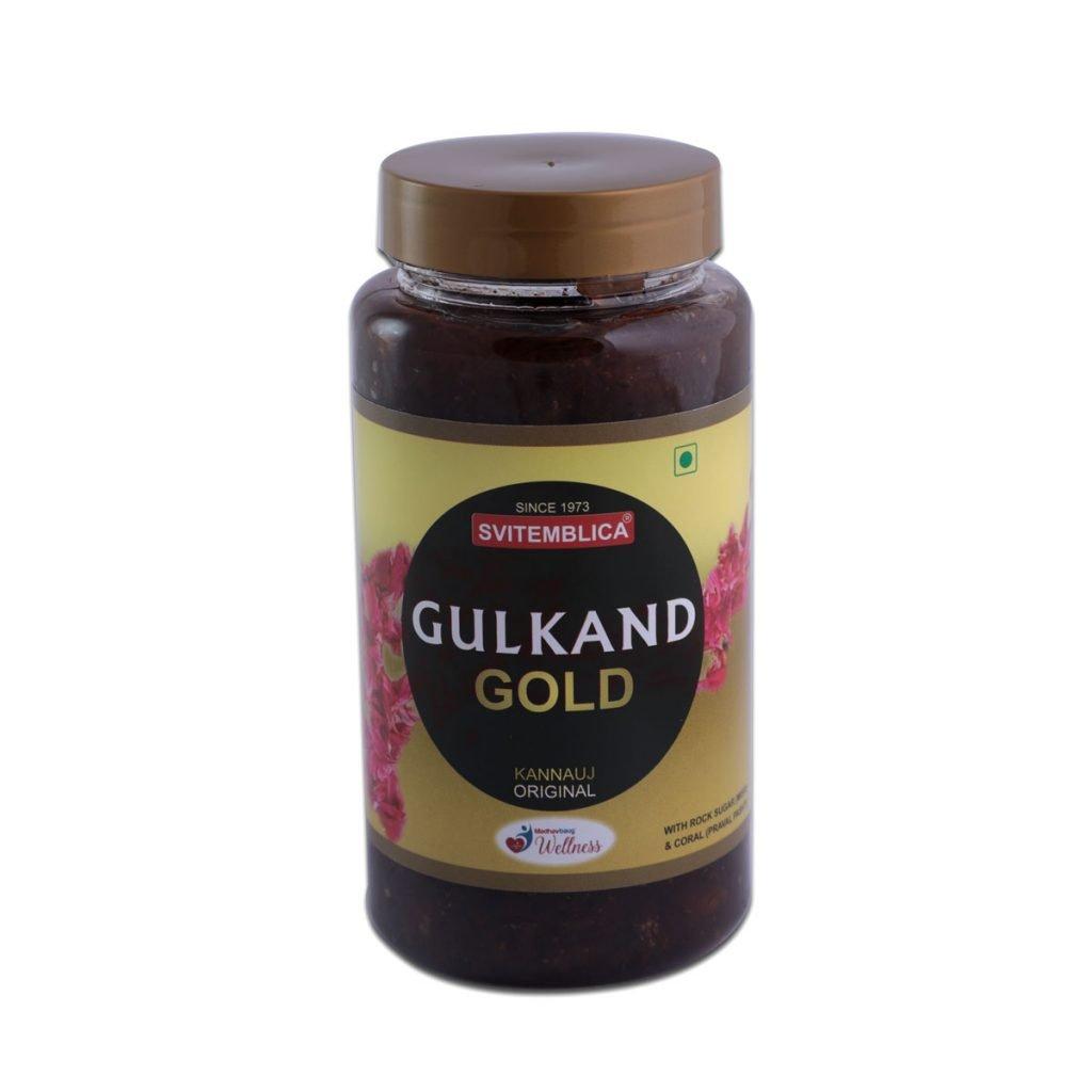 SVITEMBLICA Gulkand Gold Front