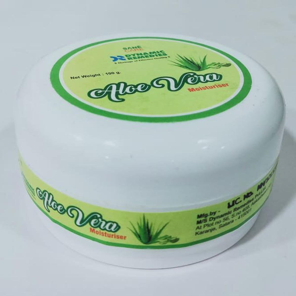 Sane Care Pearly Aloe Vera Moisturiser Side