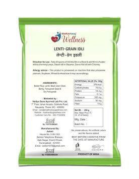 Madhavbaug Wellness LentiGrain Idli 250 Pouch Back